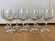 8 Wein Gläser