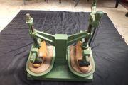 Schusterpresse 1960 Schuhsohlenpresse mit Leisten