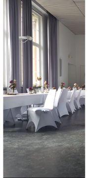 100 Stuhlhussen Weiß ideal für