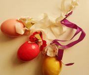 3 dekorative Ostereier zum Aufhängen -