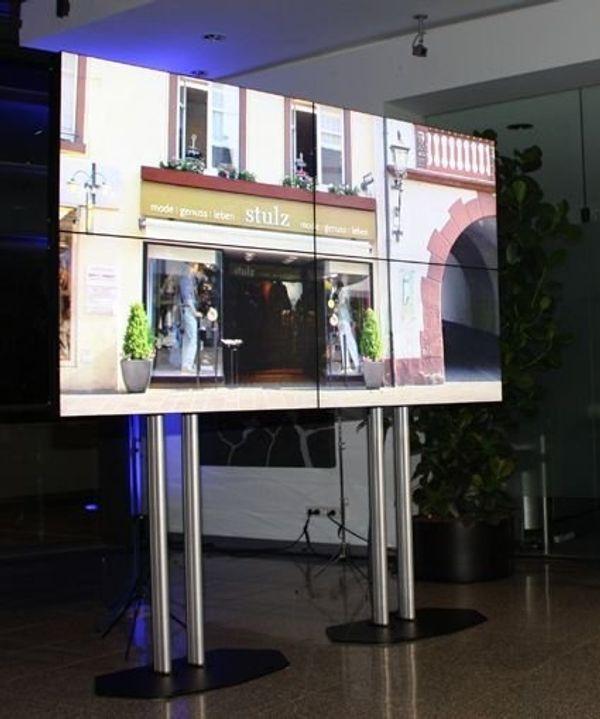 110 Videowall Videowand Verleih Messe