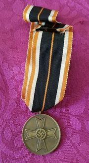 DachbodenfundMilitariaVerdienst-MedailleMit Original Halsband