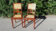2 Vintage Hochlehnenstühle Esstischstühle mit
