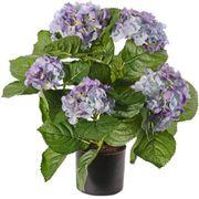 Kunstpflanze GrabpflanzeHortensien inblau 204 Blüten