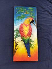 Papagei Bild aus Holz