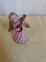 Kleiner Engel Porzellan mit Musikinstrument