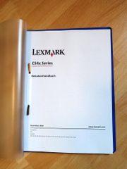 Bedienungsanleitung für Lexmark C540n ausgedruckt