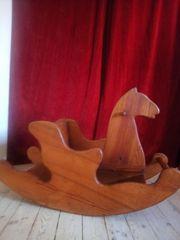 Schaukel Pferd Holz massiv Schreinerarbeit