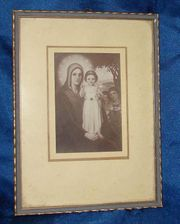 Gerahmtes Bild Maria mit Kind