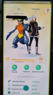 Pokemon Go Account lvl 44