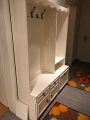 Garderobe weiß mit Schubladen Spiegel