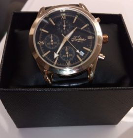 Uhren - Armbanduhr Chronograph gold schwarz
