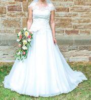 Romantisches Brautkleid Gr 38 in