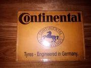 vintage Blechschild Continental