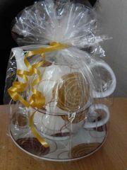 Set Porzellan Teekanne Tasse Geschenk