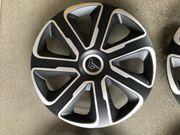 Radkappen Radzierblenden 14 Schwarz Silber