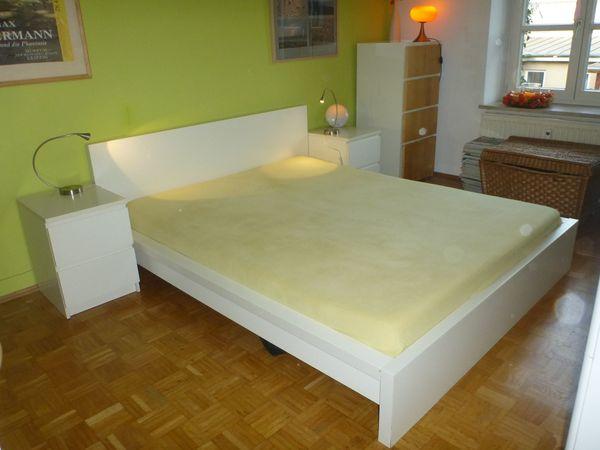 Malm Bett Weiß160 X 200 Mit Matratzen Lattenrost