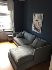 Sofa Ecksofa Recamiere Chaiselongue hellblau