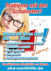 Deutsch Mathe Englisch- Einzelnachhilfe beim