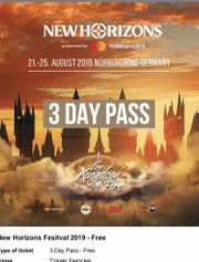 New Horizons Festival 3 Days