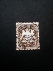 Briefmarke Deutsches Reich Bayern 3