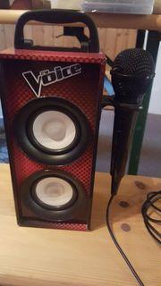 The Voice - Lautsprecher mit Karaoke-Mikrofon