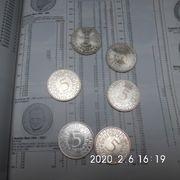 5 Stück 5 DM Silberadler