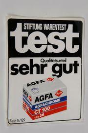 Agfa Aufkleber Sticker-NEU AGFA XRG100