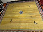quadratischer Wollteppich