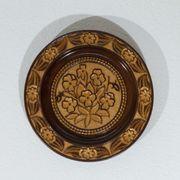 Geschnitzter dekorierter Holzteller Deko