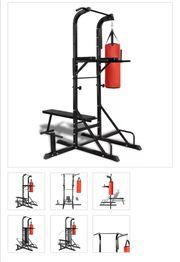 Fitness Kraftturm mit Trainingsbank und