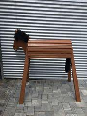 Holzpferd - Spielpferd zum Reiten
