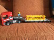 Playmobil Schwertransporter mit Erweiterung für