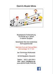 Musikalische Früherziehung für Kinder ab