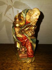 Wunderschöne alte Krippenfiguren Holz geschnitzt