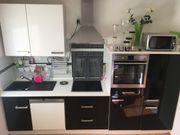 Küchenzeile Hochglanz schwarz ohne Elektrogeräte