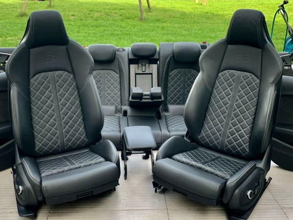 Enjoyable Audi S4 8W A4 Rs4 B9 Lederausstattung Leder Sitze S Line Spiritservingveterans Wood Chair Design Ideas Spiritservingveteransorg