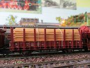 Roco H0 Rungenwagen DB Güterwagen