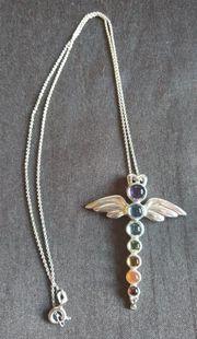 Chakra-Engel inkl Silberkette neuwertig