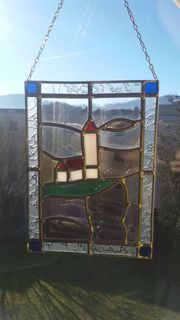 Glasbilder umrahmt nach Tifany Lampen