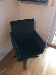Grüner Sessel aus Samt