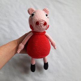 Puppen - Wutz Pig Rosa Schwein gehäkelt