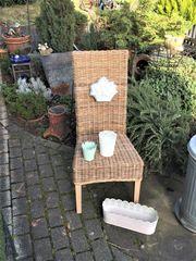DEKORATION - Garten Hauseingang Stuhl mit