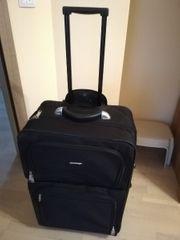 Hochwertiger schwarzer Trolley Koffer mit