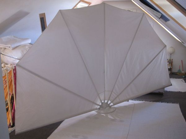 Zimmer Stoff Paravent Balkon Terassenfächer Raumteiler Sichtschutz