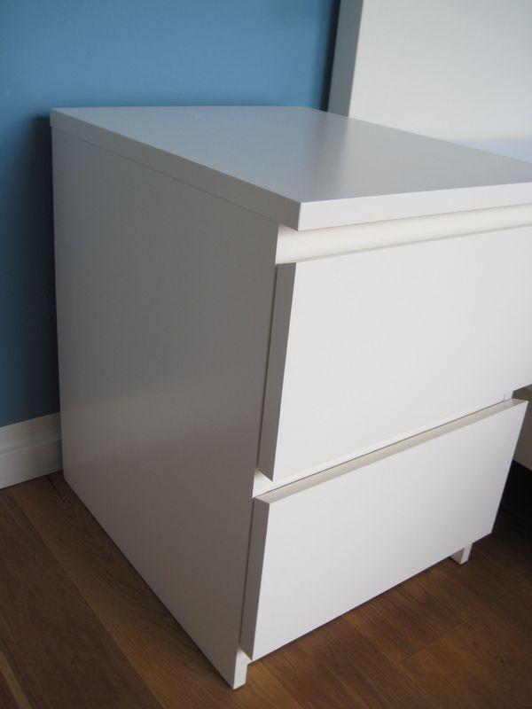 Malm Kommode Kommoden Nachttisch 2 Schubladen weiß Ikea in ...
