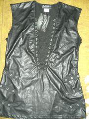 schwarzes sexy Oberteil - Minikleid - Reizwäsche -
