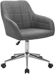 Bürodrehstuhl - grau - Stoff - höhenverstellbar