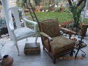 Alter Sessel 2x ältere weiss