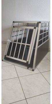 Alu Hundetransportbox mit Tür